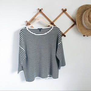 Eileen Fisher Black and white striped sweater